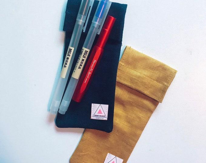 The CJ | Pen Bag | Premium Linen | Pencil Bag
