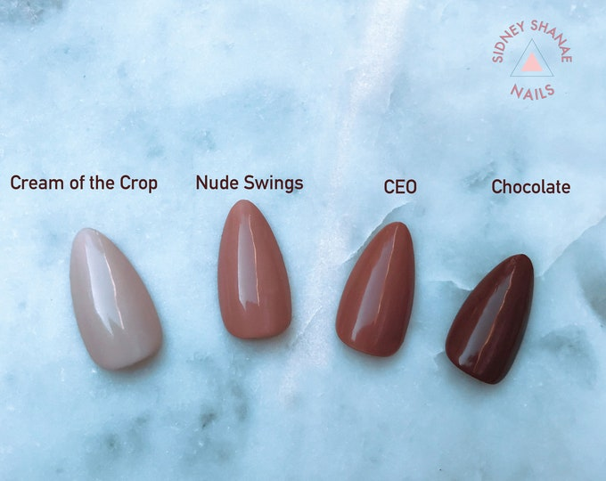 Nude Collection | Press on Nails | False Nails | Matte or Glossy