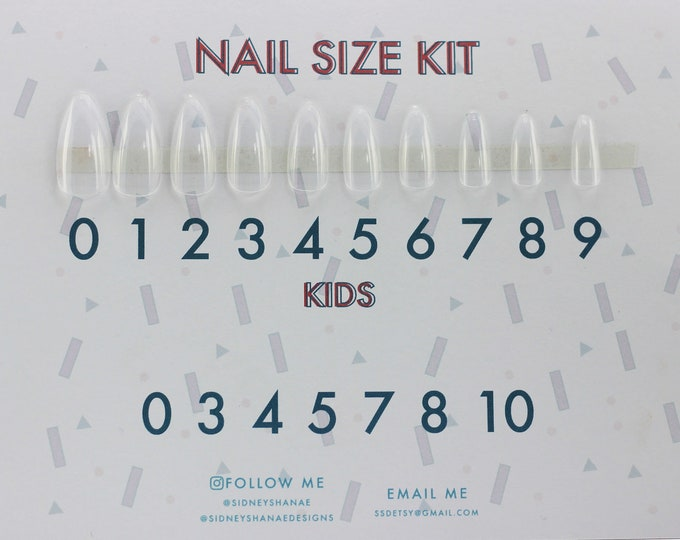 Nails Size Kit | Press on Nails | False Nails | Matte or Glossy