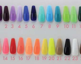 Solid Colors   Press on Nails   False Nails   Matte or Glossy