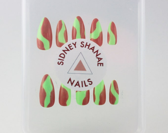 Trippy Set| Press on Nails | False Nails | Matte or Glossy