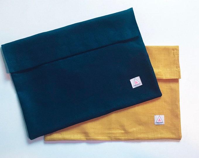 The Tristan | Journal Bag | Premium Linen | Computer Bag