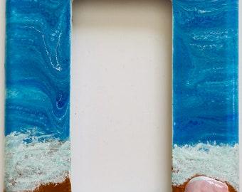 Single Rocker Switch Cover, Rocker Wall Plate, Rocker Switch Cover, Beach Theme Switch Cover, Ocean Theme Switch Cover, Beach Wall Art