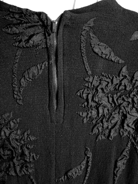1940s Black Crepe Dress - image 6