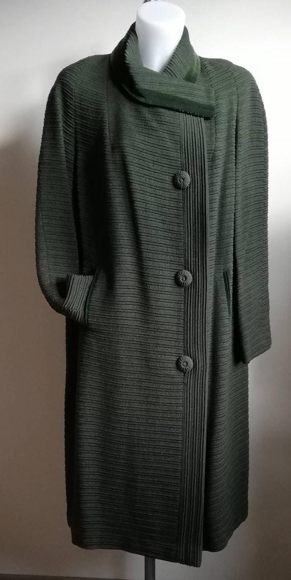 1960s  Bottle Green Wool Coat