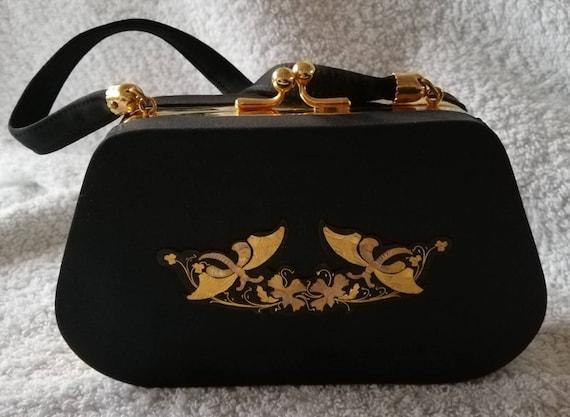 1960s Black Minois Evening Bag