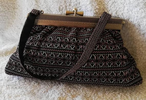 1950s Lame Cloth Evening Bag