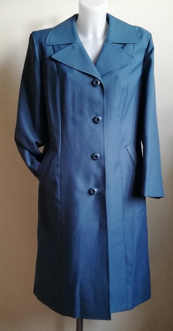 1960s Teal Blue Dannimac Coat