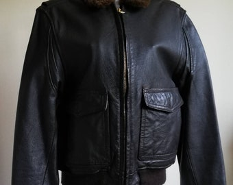 """Brown Leather """"Flying"""" Jacket"""