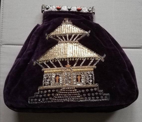 1930s Purple Velvet Clutch