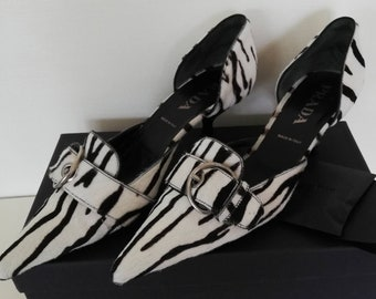 Prada Zebra Print Court Shoes
