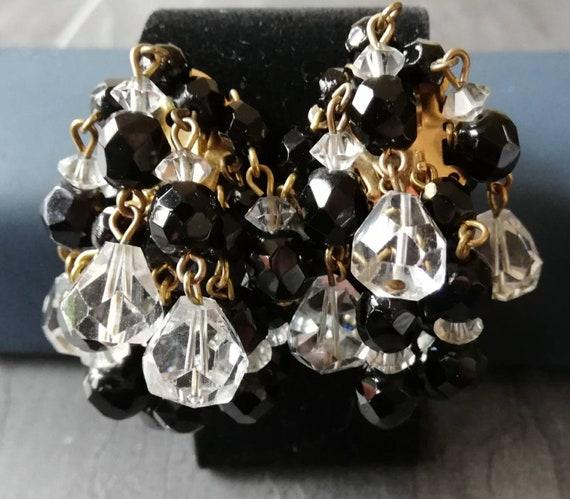 1950s Miriam Haskell Waterfall Bead Earrings