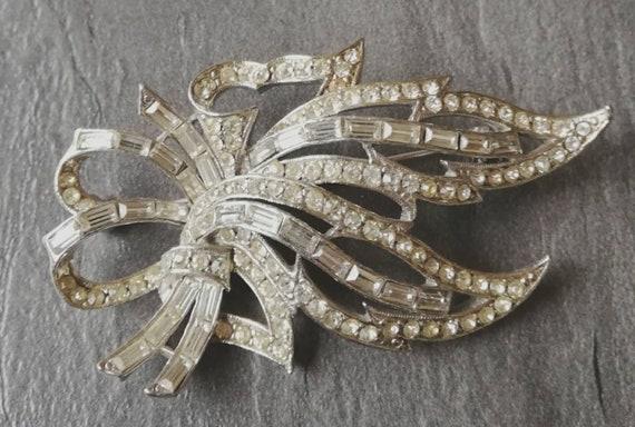1950s Hattie Carnegie Diamante Brooch