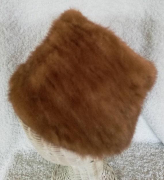 1960s Elsa Schiaparelli Mink Peachbasket Hat - image 2