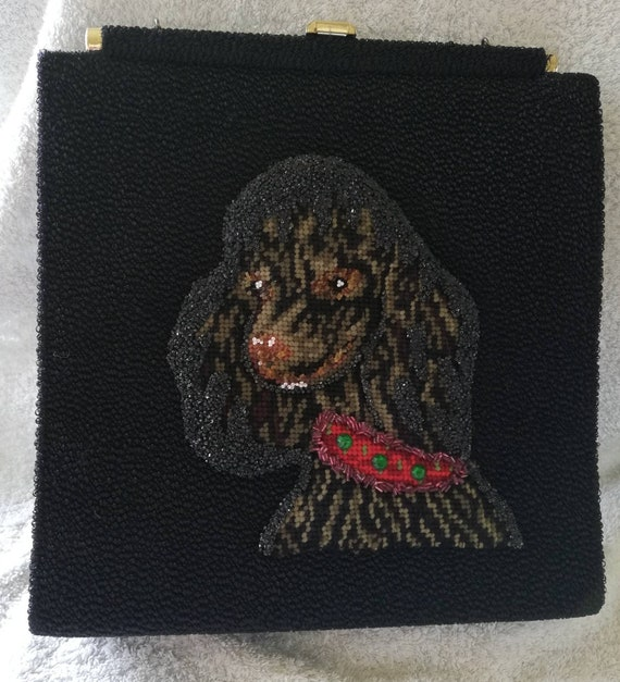 1950s Faye Mell Poodle Bag