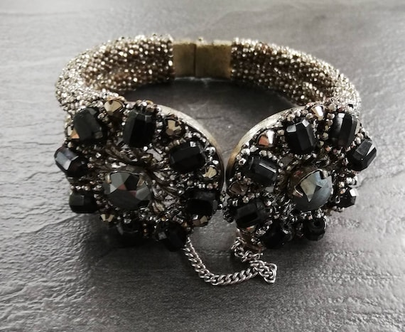 1950s Miriam Haskell Clamper Bangle