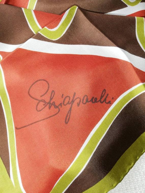 1960s  Schiaparelli Silk Head Scarf