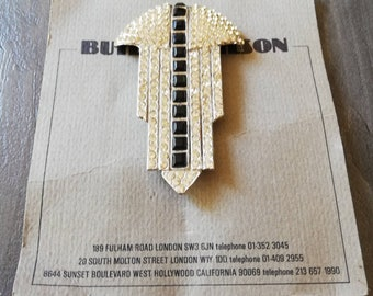1980's Butler and Wilson Art Deco Style Brooch