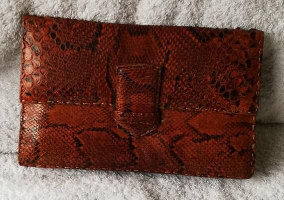 1940s Snakeskin Clutch