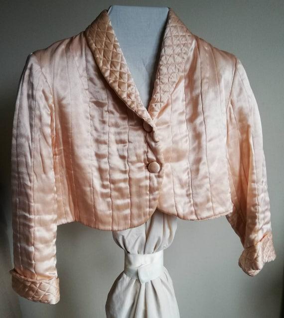 1940s Satin Bed Jacket