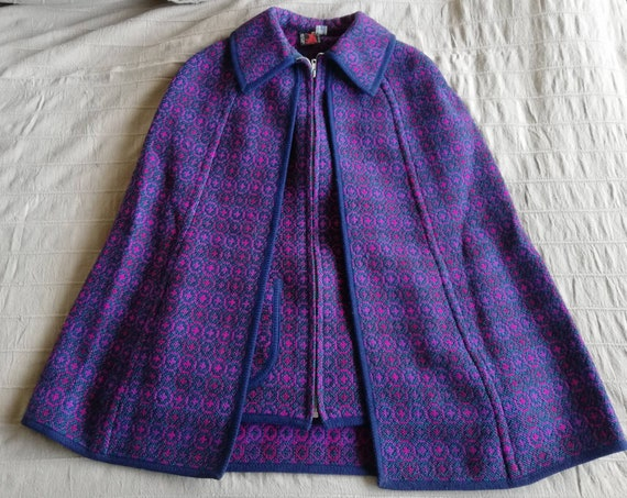 1960s Welsh Tapestry Cape and Waistcoat