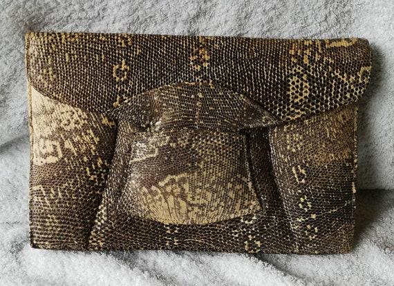 1940s Snakeskin Clutch Bag