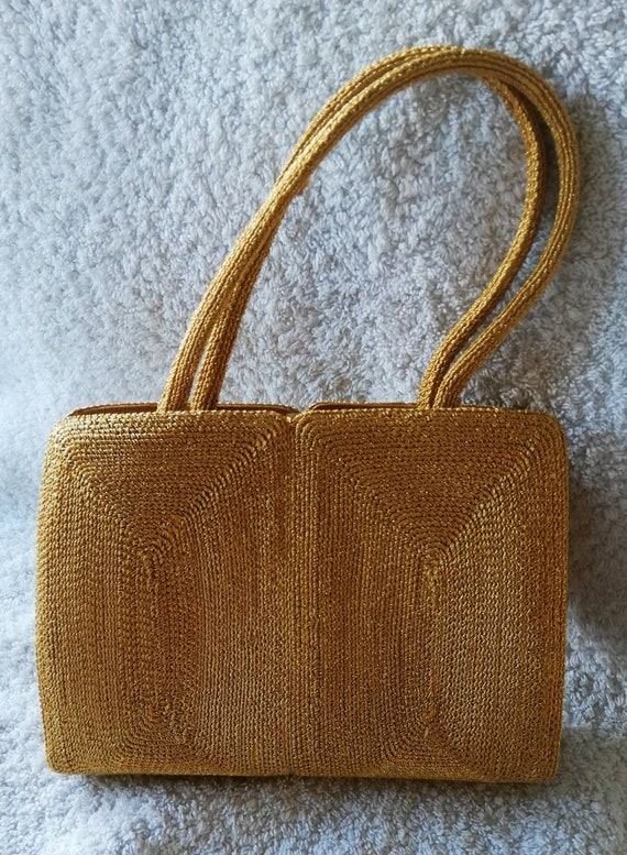 1950s Gold Corde Evening Bag