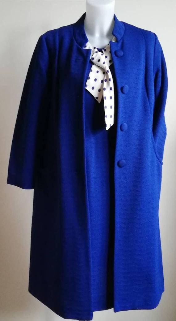 1960s Royal Blue Dress and Coat