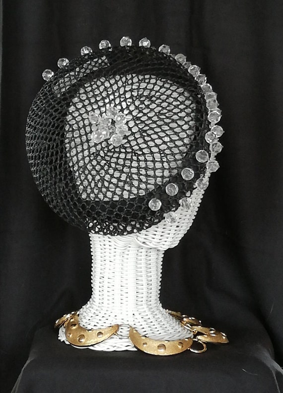 Miss Jones by Stephen Jones Black pillbox beret