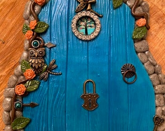 10 Sets Of Fairy Hobbit Elf Door With knocker Rings Wooden Shapes Craft