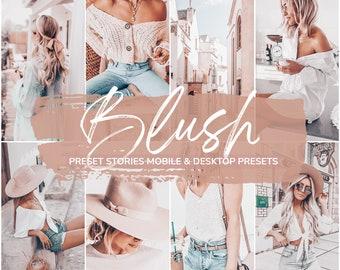Pastel Presets, Lightroom Presets, Best Lightroom Mobile Presets, Summer beach presets, Peach Blush Pink tones creamy Lightroom filter
