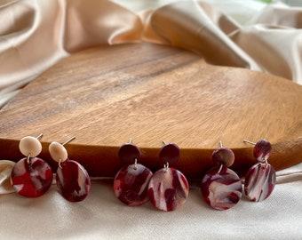 Marble Clay Earrings