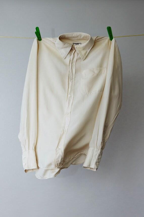 Vintage Yves Saint Laurent blouse zijde maat S