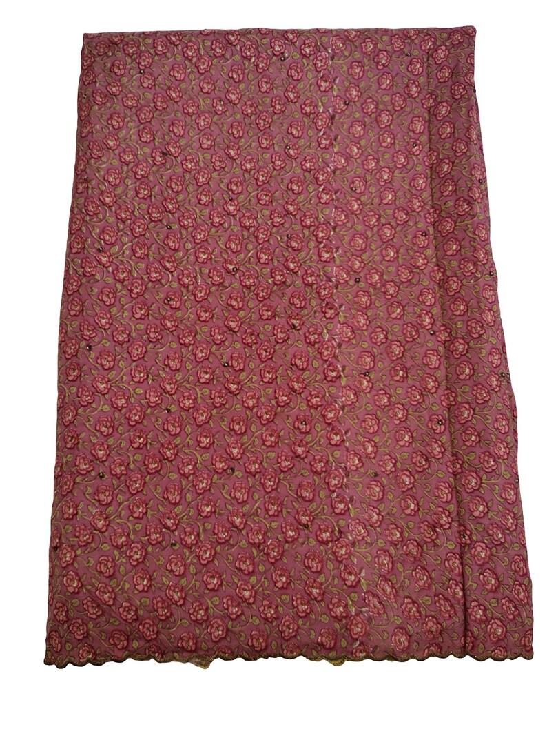 Vintage Indian Multi Pure Silk Saree Floral Printed Saree Deco Sari Craft Fabric Dressmaking,Crafting,Home Decor Silk Sari 5 Yard Fabric