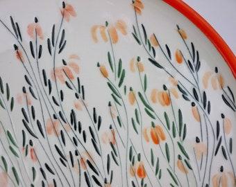 Bright orange Echinacea plate #29
