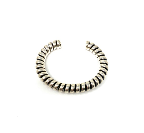 Vintage Sterling Silver Telephone Cord Cuff Bracel