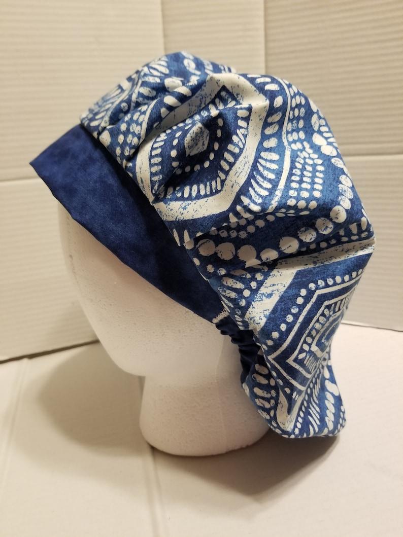 Blue Bouffant