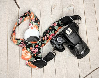 Traveler Gear DSLR Camera Strap Pink Feathers Camera Strap Birthday Gift Photographer Gift Camera Accessory