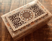 Marquetry wodeen jewellery chest, box, Mother s Day gift