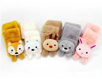 Pop Up Scarf Soft Toy ** Gift Idea **  Girls Boys Kids Animal Scarf Muffle
