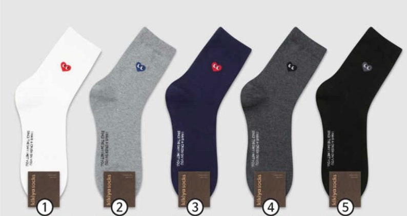 Men Fashion Socks Soft Socks Casual Socks Cotton Socks Heart Point Socks Dress Socks Men Gift Sneakers Socks Cute Socks