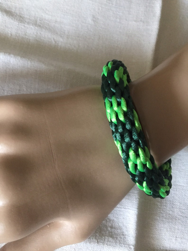 All raw materials used were made in China. Patrick\u2019s Day woven Kumihimo braided 6\u201d bracelet St