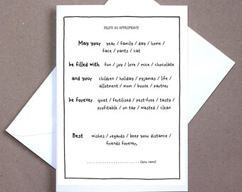 May Your: (Delete As Apt) – celebration card