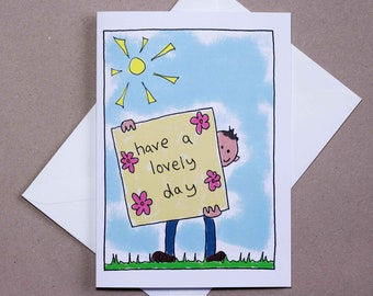 Lovely Day – greetings card