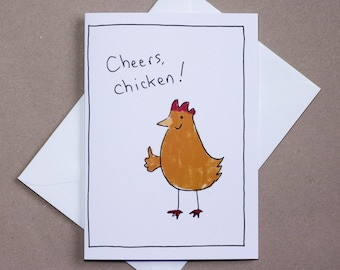 Cheers Chicken – thank you card