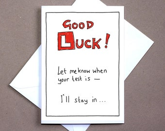 Good Luck Test – greetings card