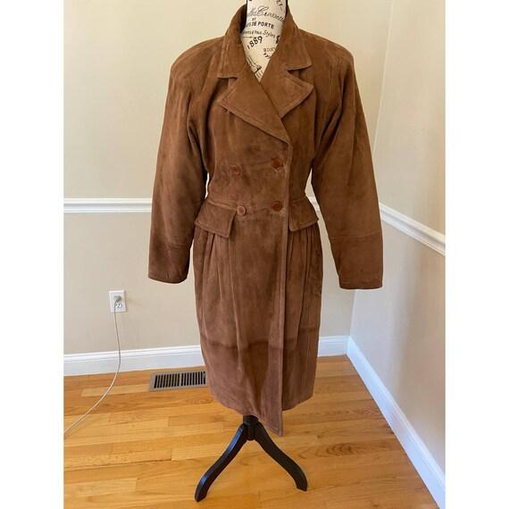 Vintage 1970s Valentino Boutique Suede Coat IT S