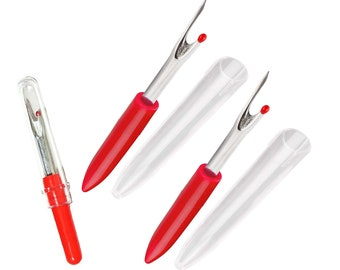 Dual sided seam ripper made from Faux Ivory acrylic