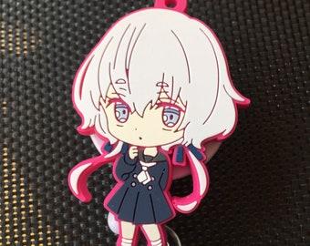 Silicone alligator manga anime badge reel free shipping