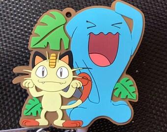 Silicone super kawaii Japanese manga anime badge reel free shipping